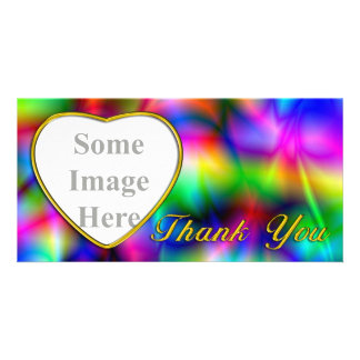 Golden Heart Colorful Abstraction Photo Card Photo Card