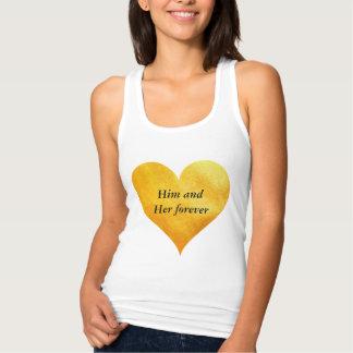 Golden Heart Custom Names Singlet