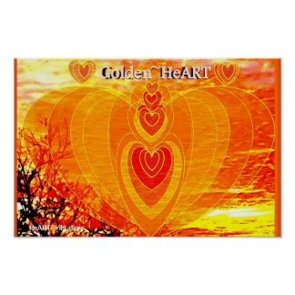GOLDEN HeArt Poster