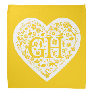 Golden Heart Reunion Logo Bandana