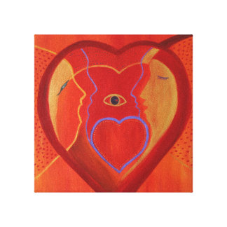 Golden heart  Single  Print