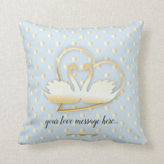 Golden Heart Swans, Gentle Love Cushion