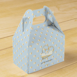 Golden Heart Swans, Gentle Love Favour Box