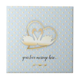 Golden Heart Swans, Gentle Love Tile