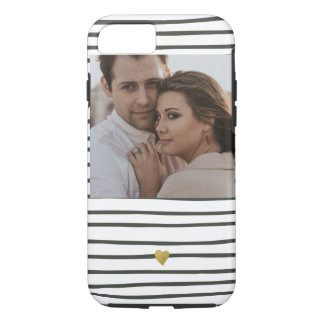 Golden Heart Upload Your Photo iPhone 8/7 Case