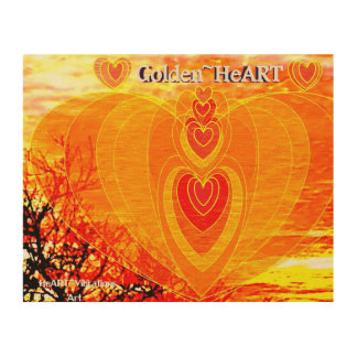 GOLDEN HeArt Wood Wall Decor