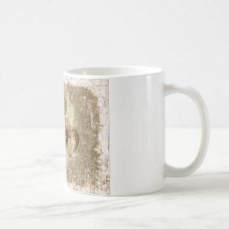 Golden Hearts Gift Basic White Mug