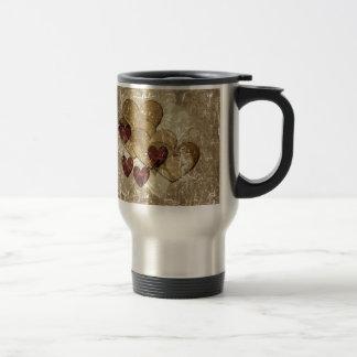 Golden Hearts Gift Coffee Mugs