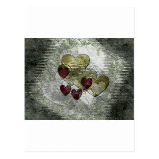 Golden Hearts Gift Postcard