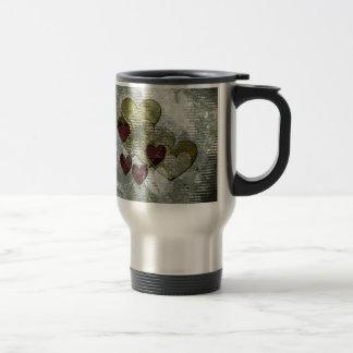 Golden Hearts Gift Stainless Steel Travel Mug