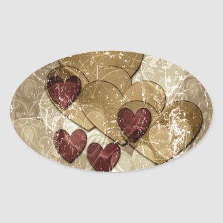 Golden Hearts Gift Stickers