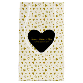 Golden Hearts Valentine's Day Small Gift Bag