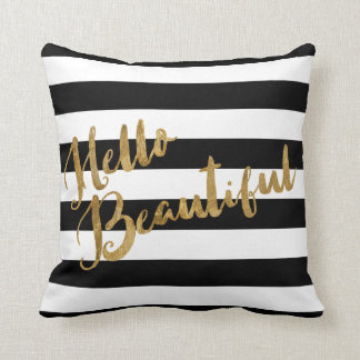Golden Hello Beautiful Stripes Cushion