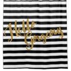 Golden Hello Gorgeous Stripes Shower Curtain