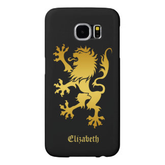 Golden Heraldic Lion Phone Case
