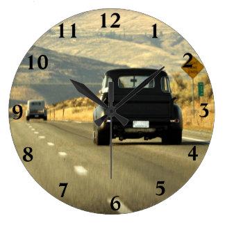 Golden Highway Clock