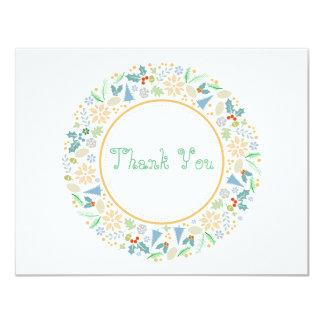 Golden Holiday Wreath Thank You Card 11 Cm X 14 Cm Invitation Card