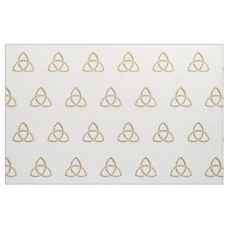 Golden Holy Trinity Symbol Fabric