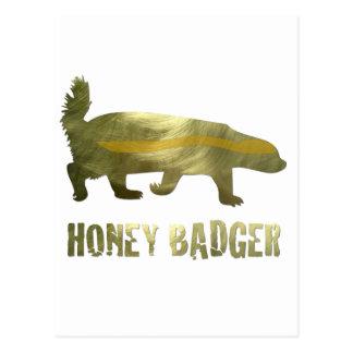 Golden Honey Badger Postcard
