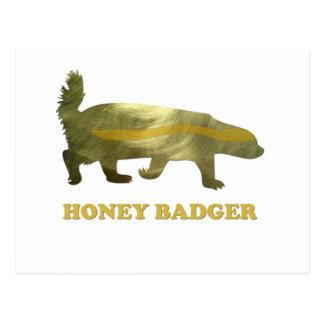 golden honey badger postcards