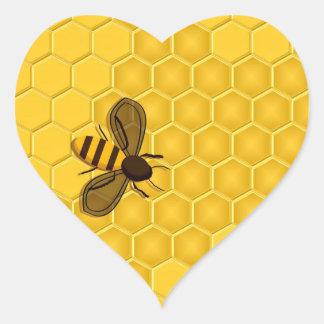 Golden Honeycomb and Honeybee Stickers