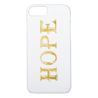 Golden Hope Text Apple iPhone 7, Barely There iPhone 8/7 Case