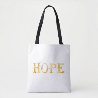 Golden Hope Text Tote Bag