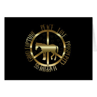 Golden Horse Of Peace Card