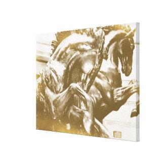 GOLDEN HORSES 24 x 18 Canvas Print