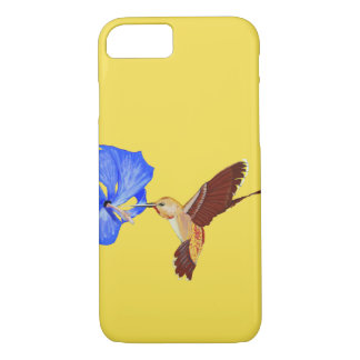 Golden Hummingbird and Blue Hibiscus iPhone 8/7 Case