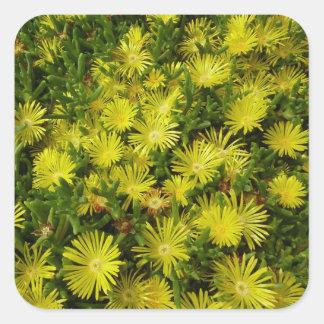 Golden Ice Flowers Sticker