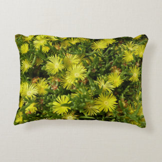 Golden Ice Plant Yellow Flowers Accent Cushion