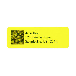 Golden Ice Plant Yellow Flowers Return Address Label