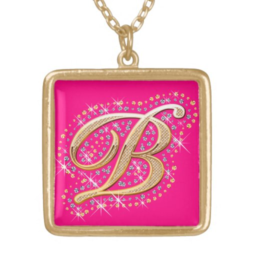 Golden Initial B - Cute Necklace
