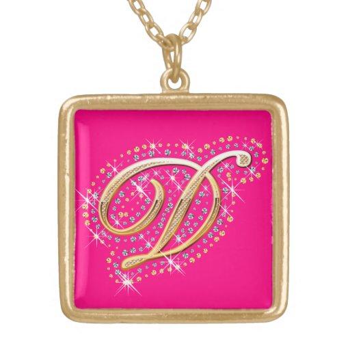 Golden Initial D - Cute Necklace