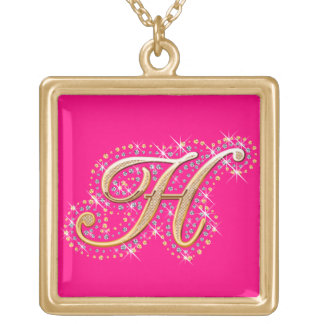 Golden Initial H - Cute Necklace