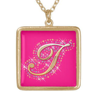 Golden Initial I - Necklace