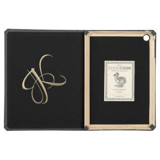 Golden initial K monogram iPad Air Cover