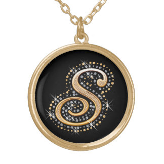Golden Initial ''S'' Necklace