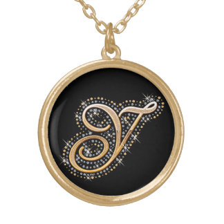 Golden Initial ''Y'' Necklace