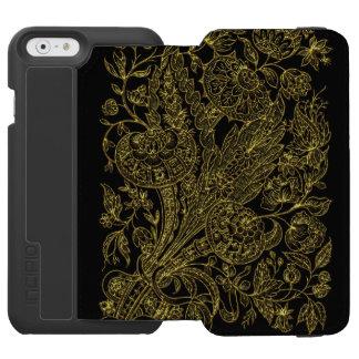 Golden inlayed style  florals incipio watson™ iPhone 6 wallet case