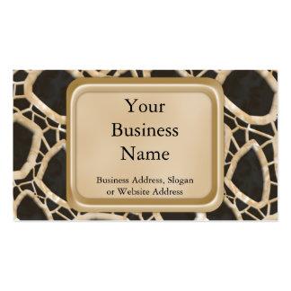 Golden Interwebs Business Card Templates