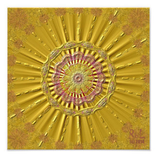 """""""Golden jets"""" as photo printing approx. 30 cm x 30"""