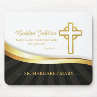 Golden Jubilee, 50 Year Anniversary Nun Mouse Pad
