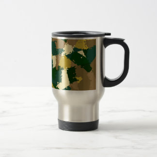 Golden Jungle Camo Stainless Steel Travel Mug
