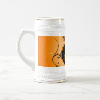 Golden key notes with floral elements mugs