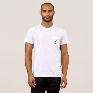Golden Key Preppy Penguin White Pocket T-Shirt