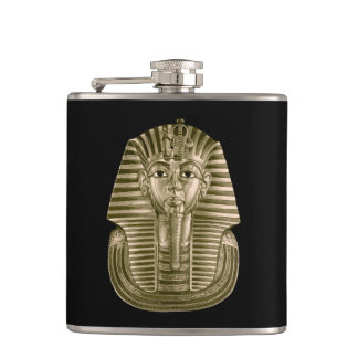 Golden King Tut 6 oz Vinyl Wrapped Flask