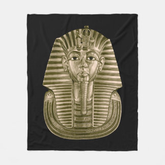Golden King Tut Fleece Blanket