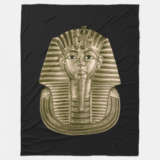 Golden King Tut Large Fleece Blanket